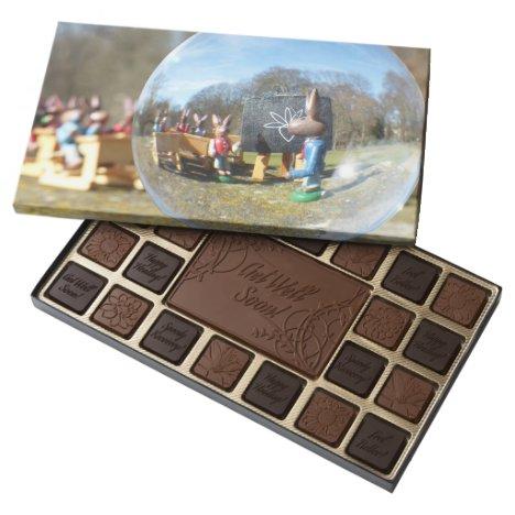 Easter Bunny school 45 Piece Box Of Chocolates