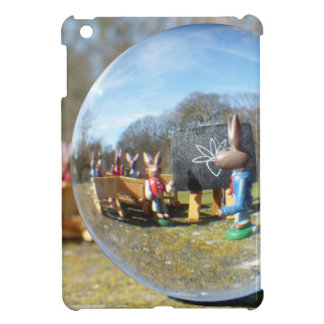 Easter Bunny school seen through the glass ball iPad Mini Cover