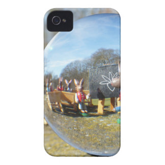 Easter Bunny school seen through the glass ball iPhone 4 Cover