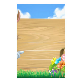 Easter Bunny Sign Background Stationery