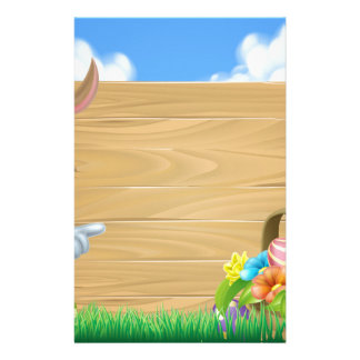Easter Bunny Sign Stationery