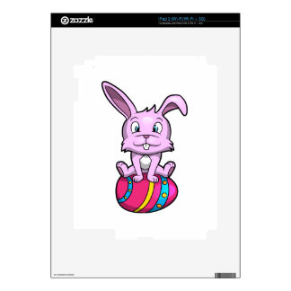 Easter Bunny Sitting on an Egg iPad 2 Decal