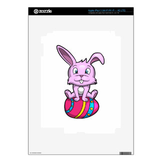 Easter Bunny Sitting on an Egg iPad 3 Decals