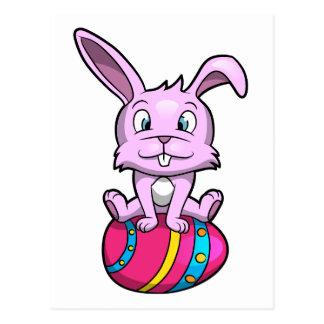 Easter Bunny Sitting on an Egg Postcard