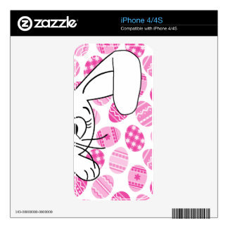 Easter bunny skin for iPhone 4