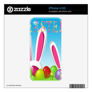 Easter bunny skin for iPhone 4S