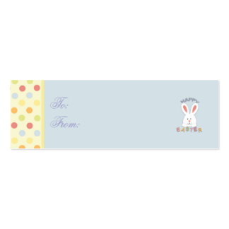 Easter Bunny Skinny Gift Tag Business Card Template