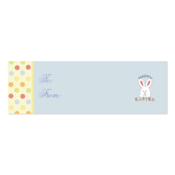 Easter Bunny Skinny Gift Tag Mini Business Card