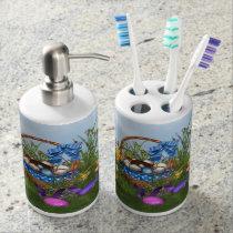 Easter Bunny Soap Dispenser & Toothbrush Holder