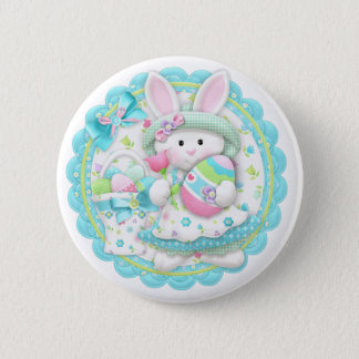 Easter Bunny Spring Button Pin