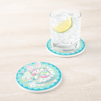 Easter Bunny Spring Party Coasters