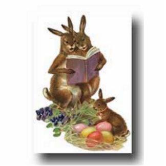 easter-bunny standing photo sculpture