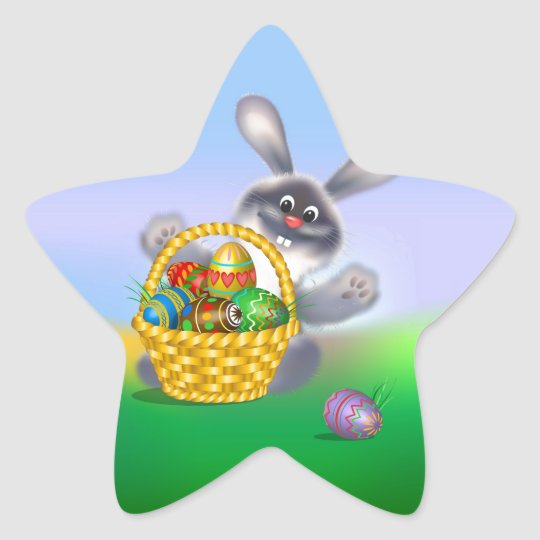 Easter Bunny Star Sticker