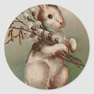 Easter Bunny Classic Round Sticker