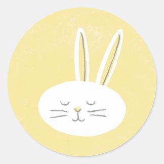 Easter Bunny Sticker - Lemon