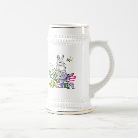 Easter Bunny T shirts and Gifts Beer Stein
