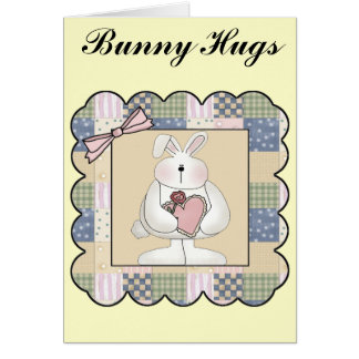 Easter Bunny T shirts and Gifts Greeting Card