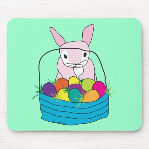Easter Bunny T-shirts and Gifts Mousepads