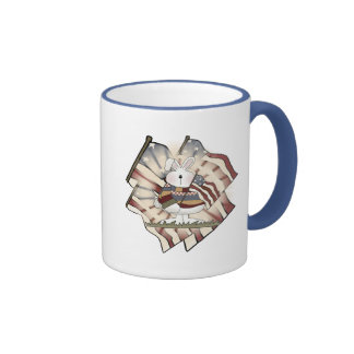 Easter Bunny T shirts and Gifts Ringer Coffee Mug