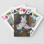 "Easter Bunny Taking A Break Bicycle Playing Cards<br><div class=""desc"">The Easter Bunny is tired so he decided to take a break from hiding eggs</div>"