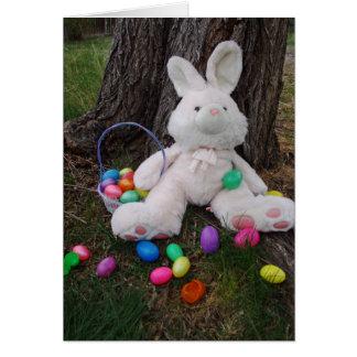 Easter Bunny Taking A Break Card