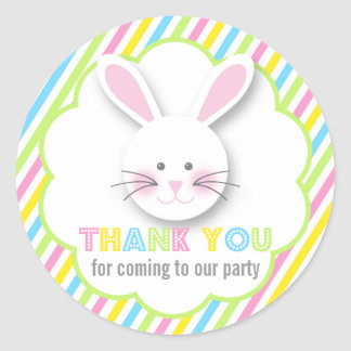Easter Bunny Thank You Stickers