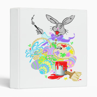 easter bunny the artist 3 ring binder