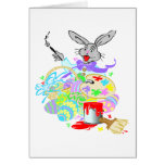 easter bunny the artist greeting card