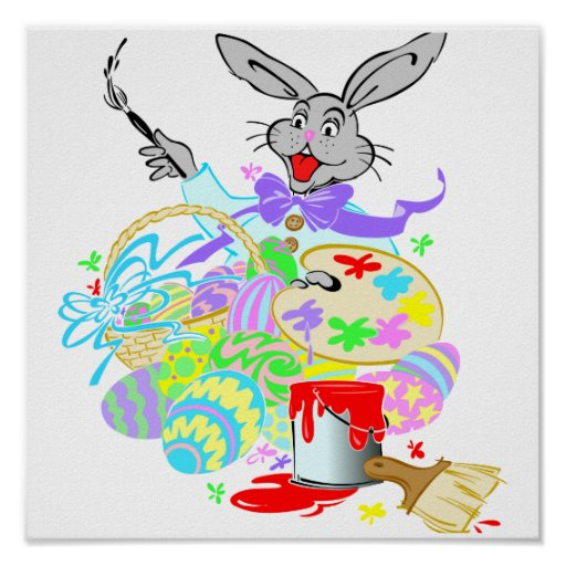 easter bunny the artist print