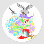easter bunny the artist sticker