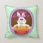 Easter bunny throw pillows