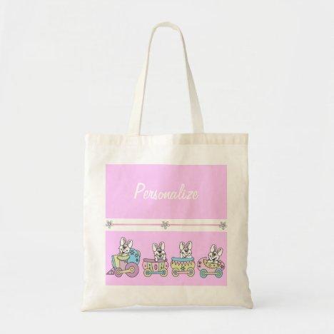 Easter Bunny Train Tote Bag