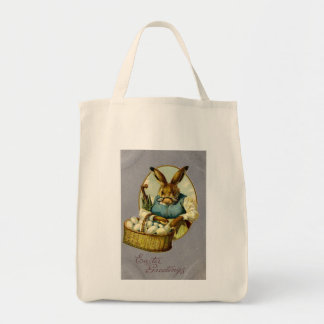Easter Bunny Vintage Grocery Tote Bag