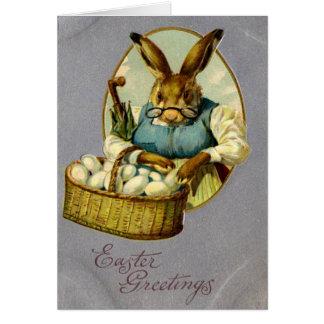 Easter Bunny Vintage Card