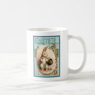 Easter Bunny Vintage Illustration Reproduction Coffee Mug
