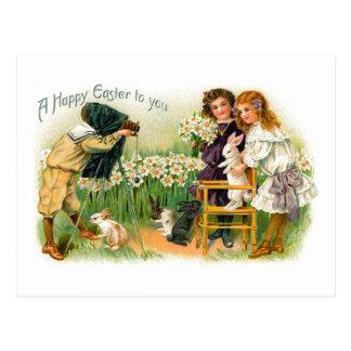 Easter Bunny Vintage Photo Shoot Postcard