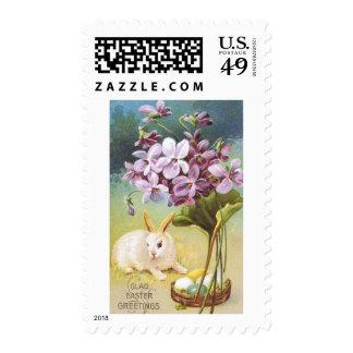 Easter Bunny & Violets Postage