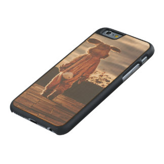 Easter Bunny walking Carved Maple iPhone 6 Slim Case