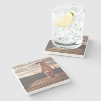 Easter Bunny walking Stone Coaster