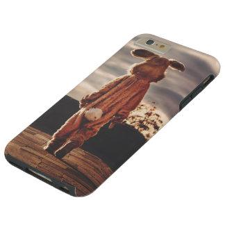 Easter Bunny walking Tough iPhone 6 Plus Case