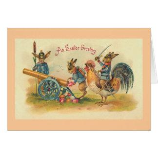 Easter Bunny War Vintage Card