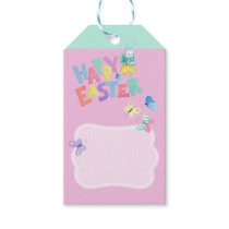 Easter Bunny Watercolor Gift Tag