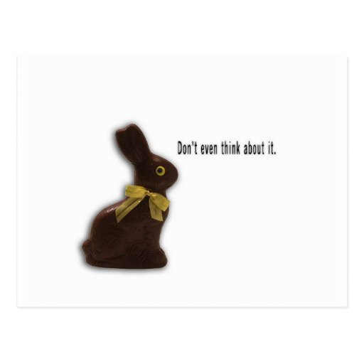 EASTER BUNNY WITH ATTITUDE TEMPLATE POSTCARDS