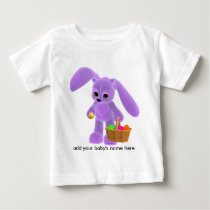 Easter Bunny with Basket Baby T-Shirt