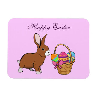 Easter Bunny With Basket Magnet