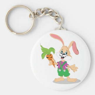 Easter Bunny With Carrot Keychain