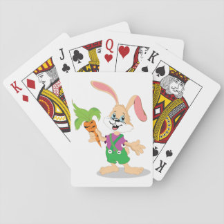 Easter Bunny With Carrot Playing Cards