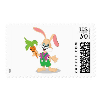 Easter Bunny With Carrot Postage