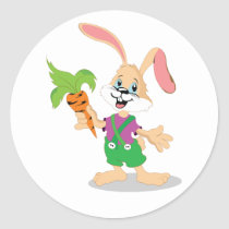 Easter Bunny With Carrot Stickers