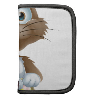 Easter bunny with chocolate eggs folio planner